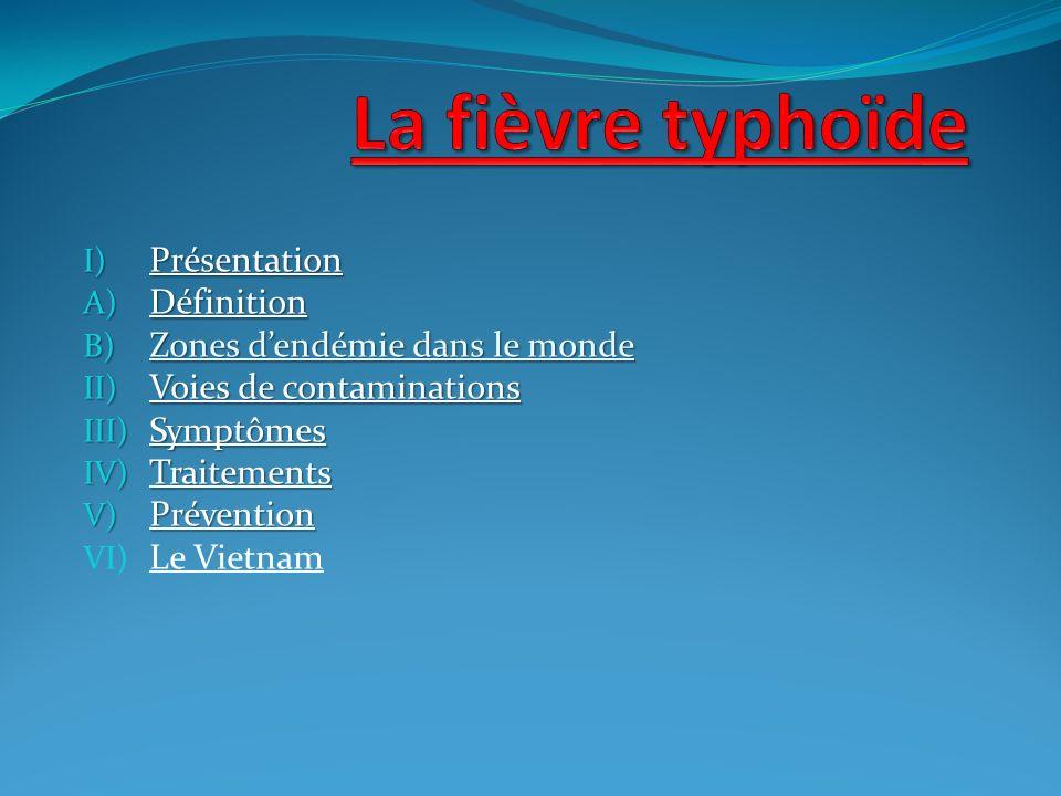 I) Présentation A) Définition B) Zones dendémie dans le monde II) Voies de contaminations III) Symptômes IV) Traitements V) Prévention VI) Le Vietnam