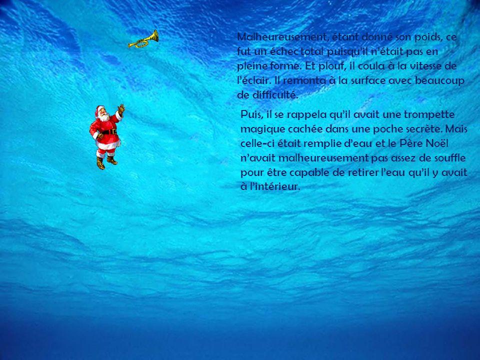Désespéré, le Père Noël navait quune dernière solution, celle-ci était dy aller à pied. Il marcha des kilomètres et des kilomètres. Cependant, il dut