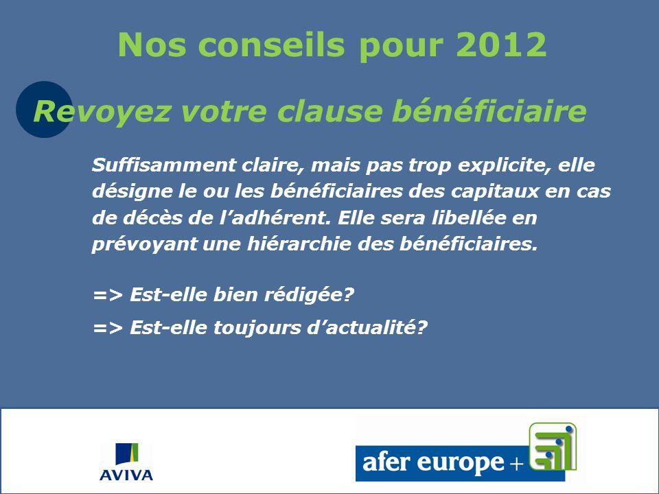Quelques autres conseils pour 2012
