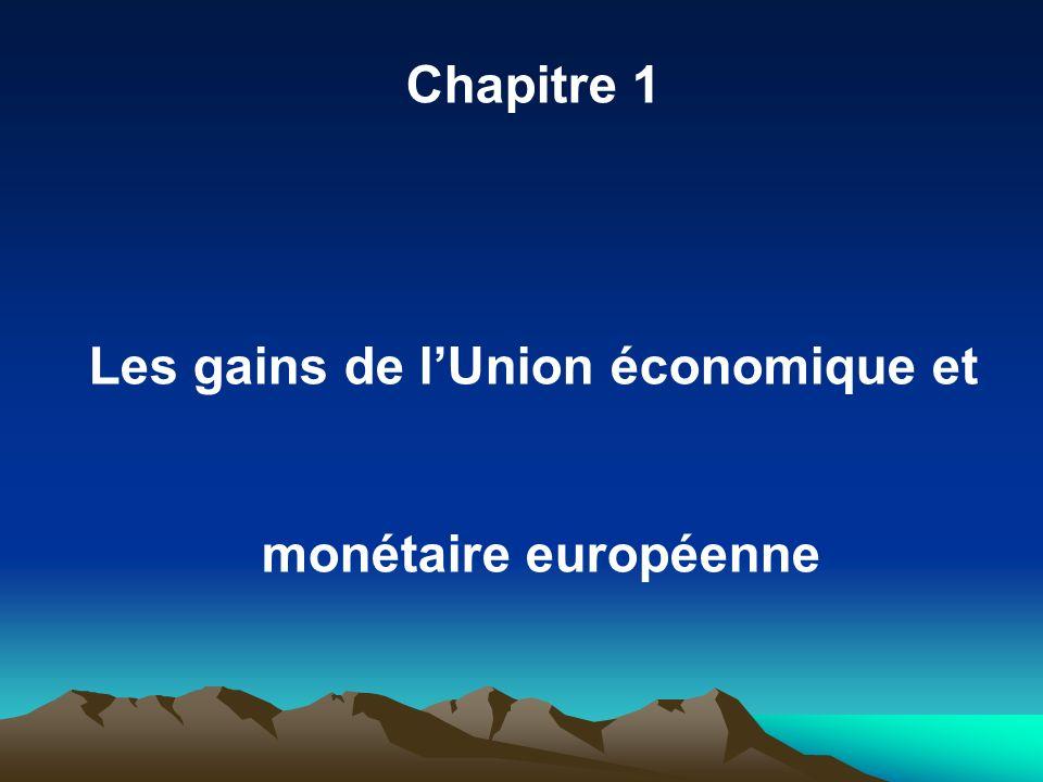Chapitre 1 Les gains de lUnion économique et monétaire européenne