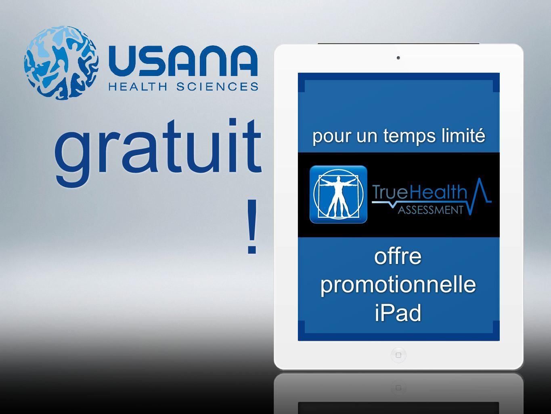 gratuit ! offre promotionnelle iPad pour un temps limité