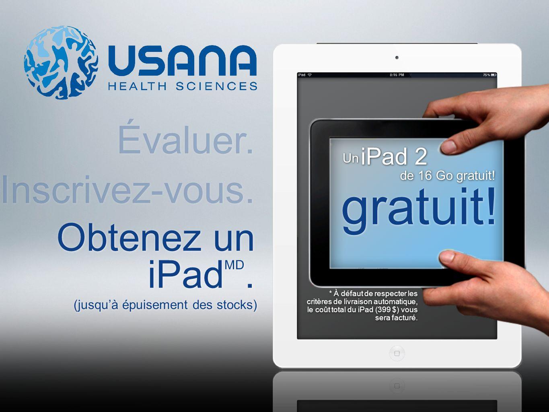 Obtenez un iPad MD. iPad 2 Un gratuit.