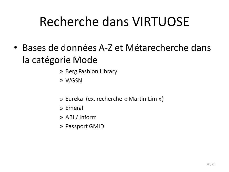Recherche dans VIRTUOSE Bases de données A-Z et Métarecherche dans la catégorie Mode » Berg Fashion Library » WGSN » Eureka (ex.