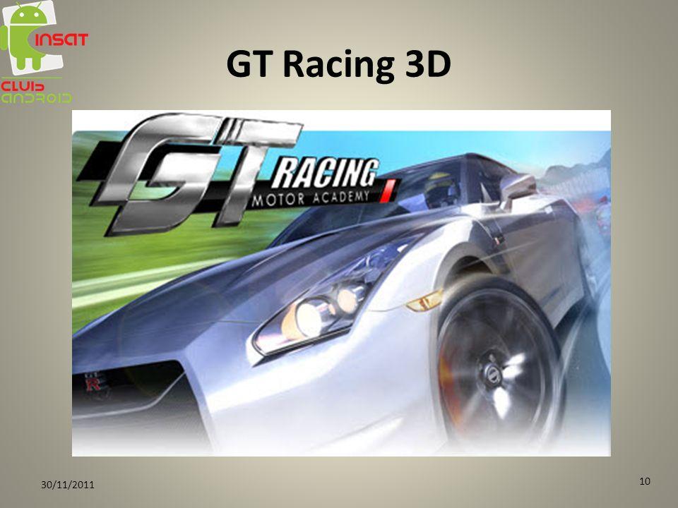 GT Racing 3D 30/11/2011 10