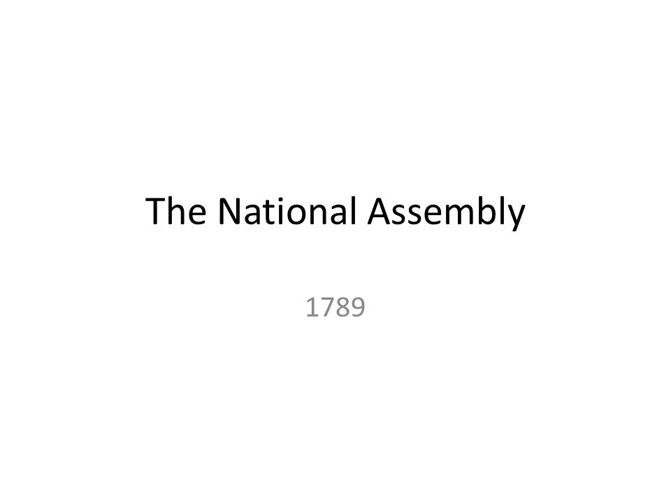 The National Assembly 1789