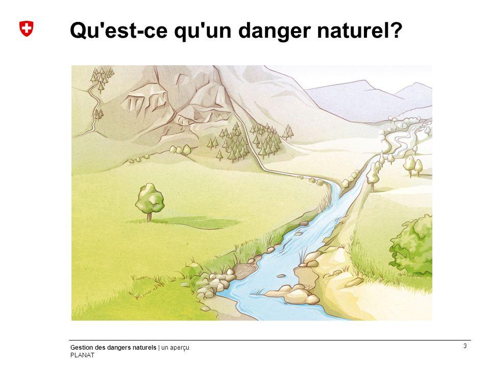 3 Gestion des dangers naturels | un aperçu PLANAT Qu'est-ce qu'un danger naturel?