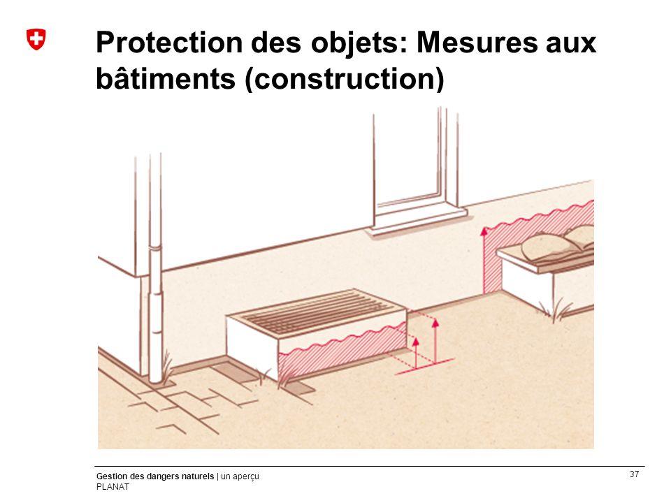37 Gestion des dangers naturels | un aperçu PLANAT Protection des objets: Mesures aux bâtiments (construction)