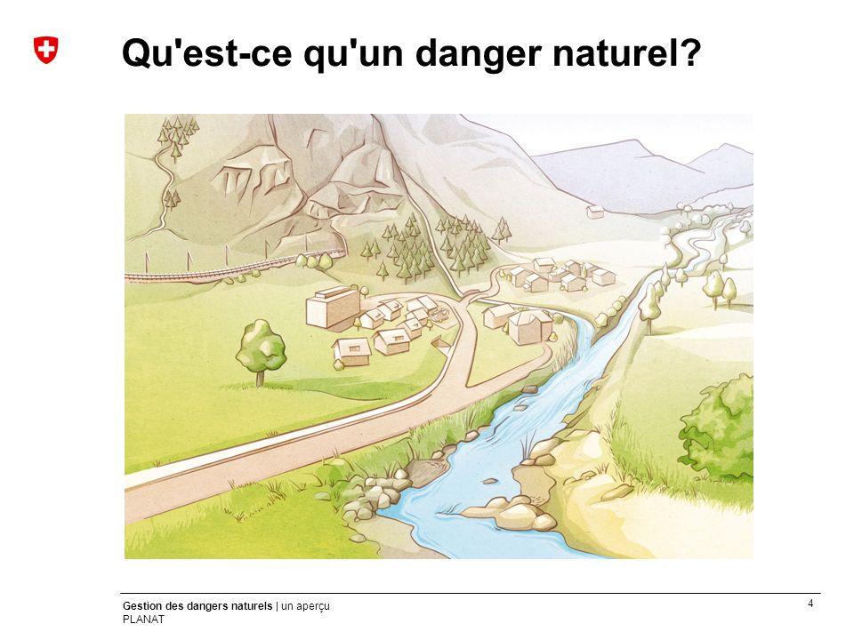 4 Gestion des dangers naturels | un aperçu PLANAT Qu'est-ce qu'un danger naturel?