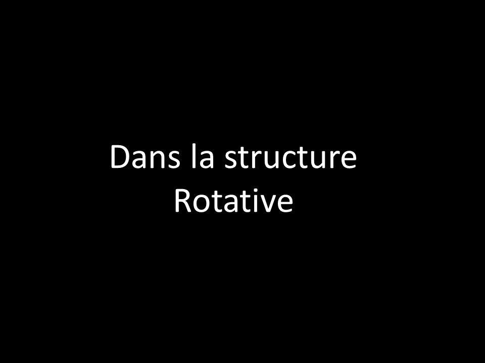 Dans la structure Rotative