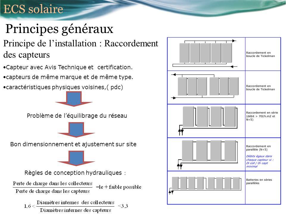 Principes généraux Principe de linstallation : Raccordement des capteurs Capteur avec Avis Technique et certification.