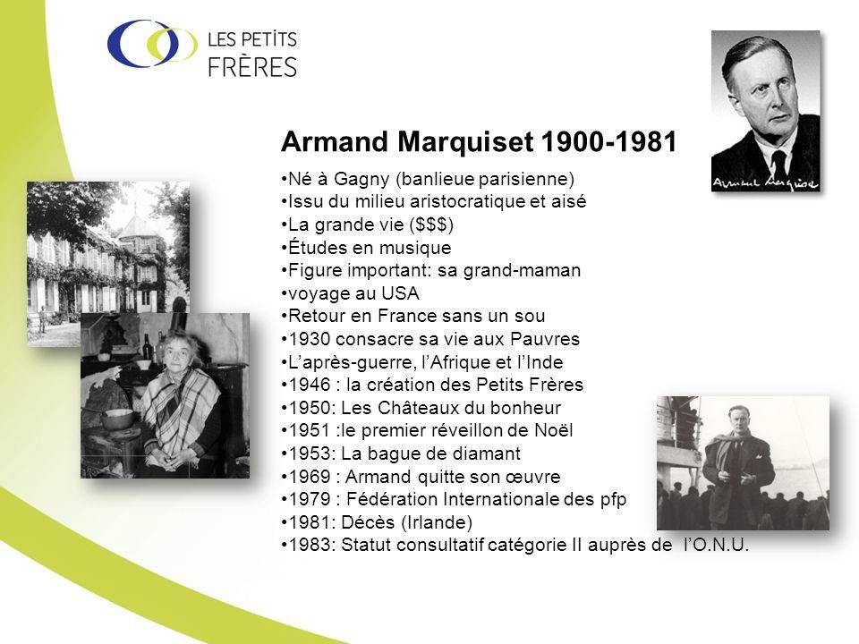 Armand Marquiset 1900-1981 Né à Gagny (banlieue parisienne) Issu du milieu aristocratique et aisé La grande vie ($$$) Études en musique Figure importa