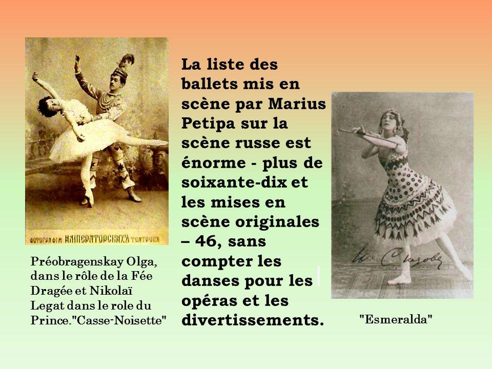 La liste des ballets mis en scène par Marius Petipa sur la scène russe est énorme - plus de soixante-dix et les mises en scène originales – 46, sans c