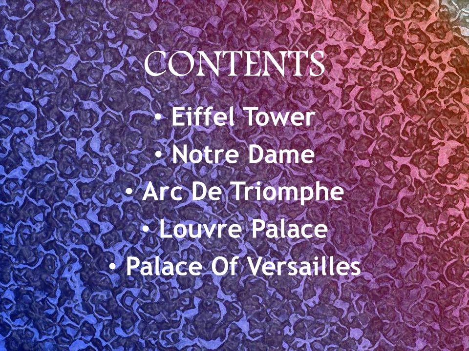 LA TOUR EIFFEL La Tour Eiffel est une tour en treillis de fer situé sur le Champ de Mars à Paris.