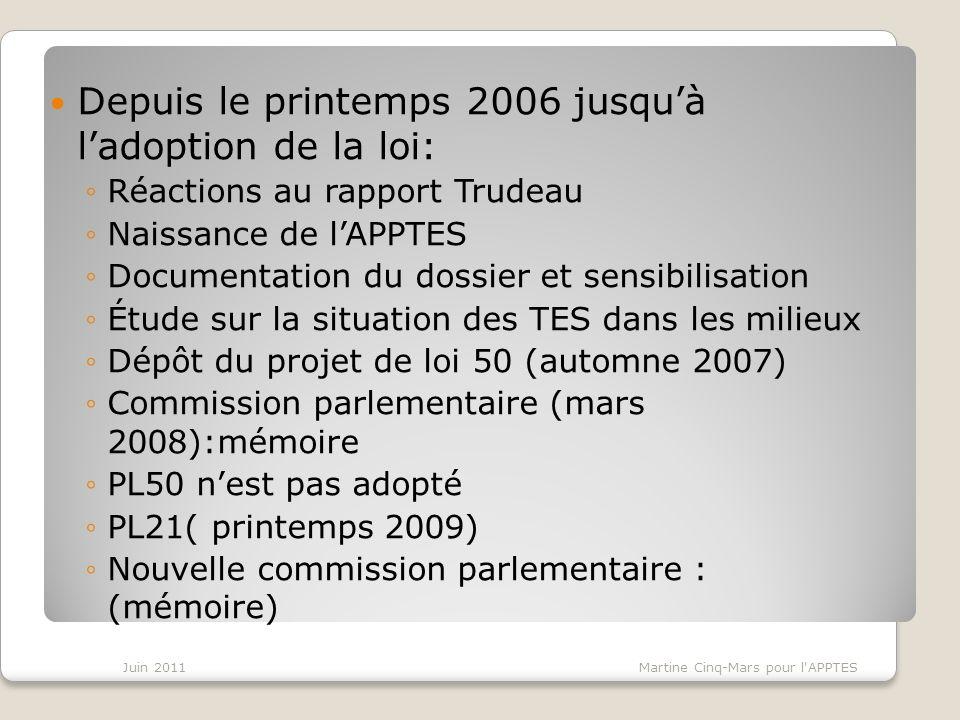Actions réalisées 2010-11 Préoccupations partagées: Communauté desprit entre associations de techniciens, de professeurs, Fédération des cégeps et CSN.