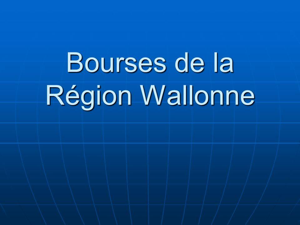Bourses de la Région Wallonne