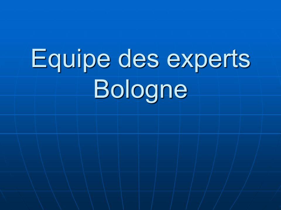 Equipe des experts Bologne
