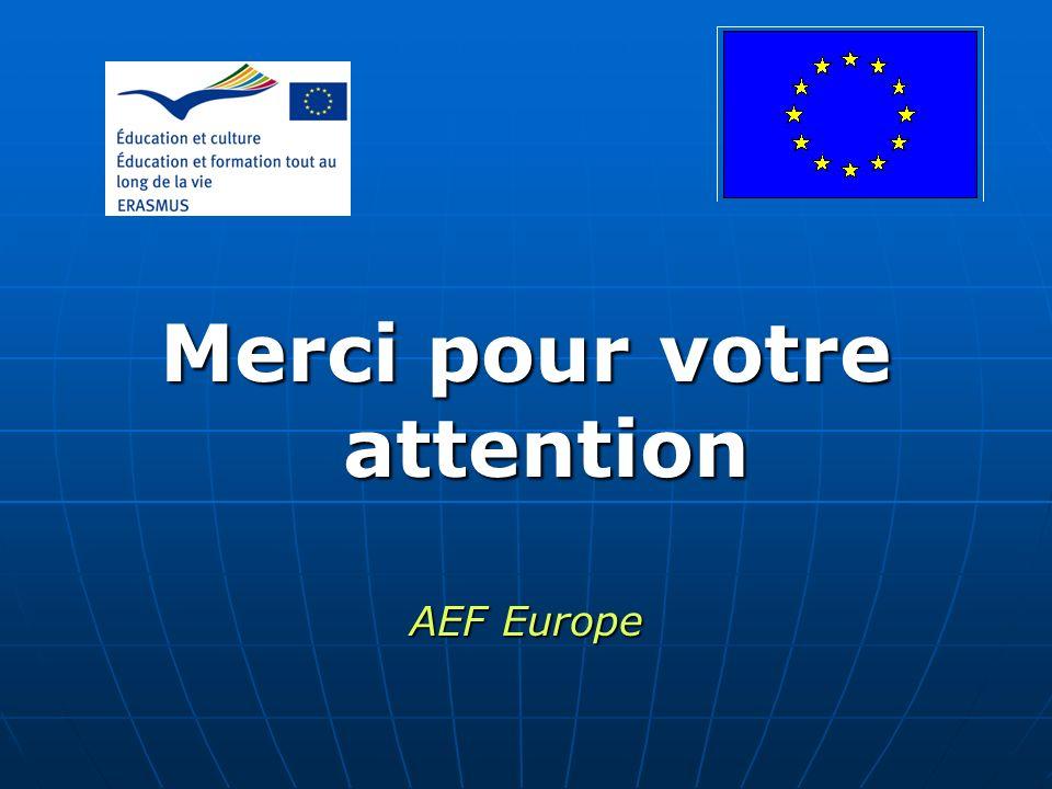 Merci pour votre attention AEF Europe
