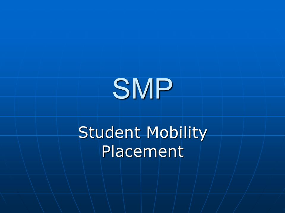 SMP Student Mobility Placement