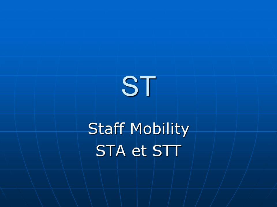 ST Staff Mobility STA et STT