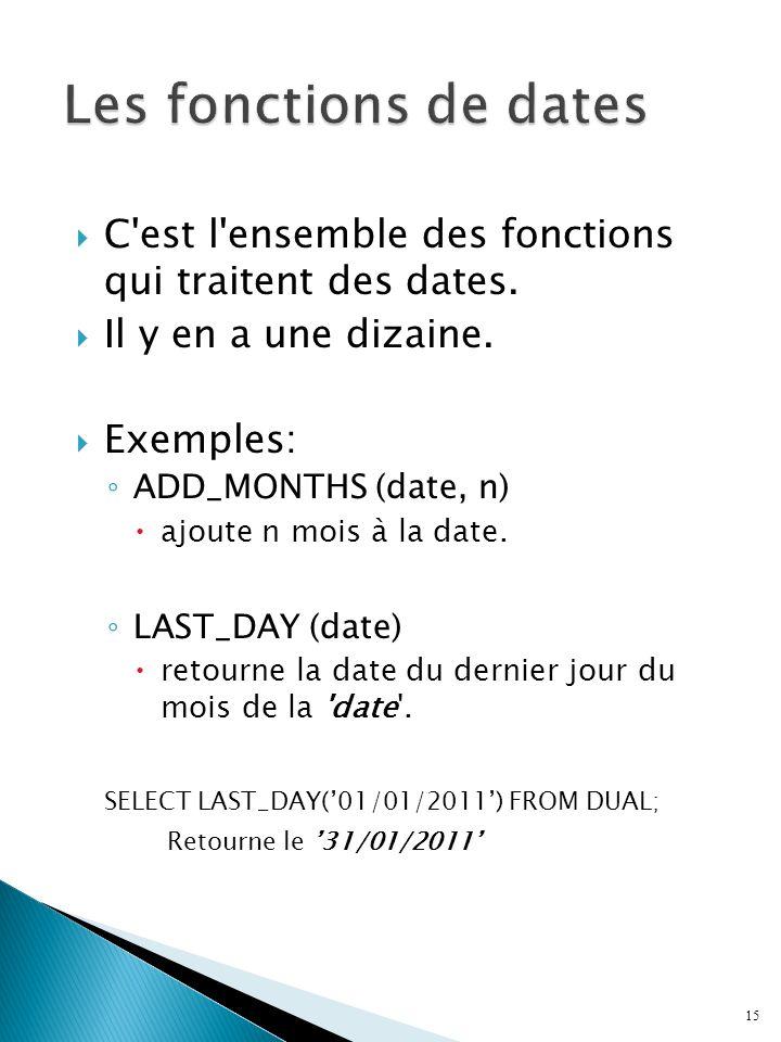 C est l ensemble des fonctions qui traitent des dates.