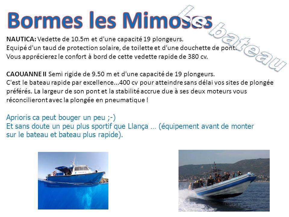 NAUTICA: Vedette de 10.5m et d une capacité 19 plongeurs.
