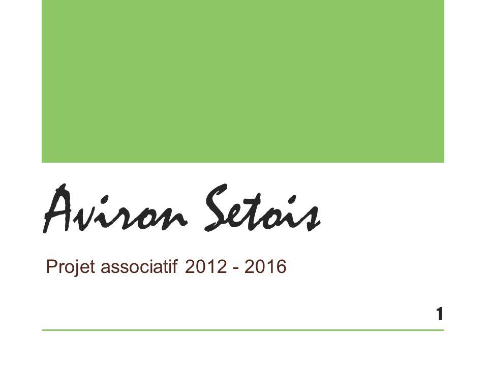 Aviron Setois Projet associatif 2012 - 2016 1