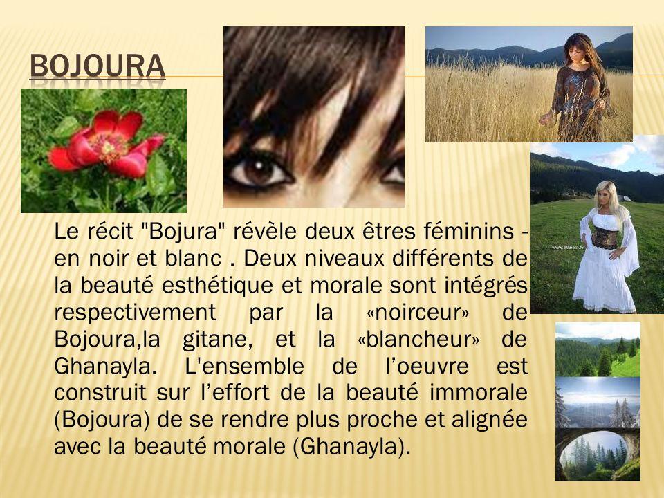 Le récit Bojura révèle deux êtres féminins - en noir et blanc.