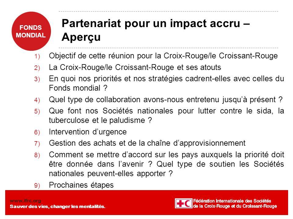 FONDS MONDIAL www.ifrc.org Sauver des vies, changer les mentalités. Discussion