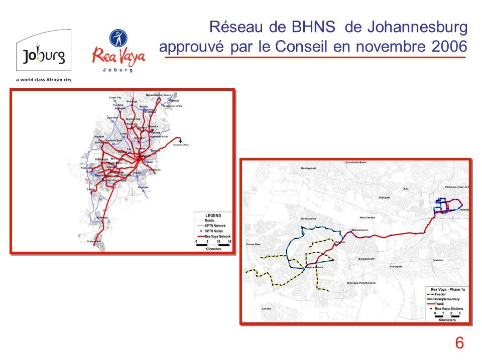6 Réseau de BHNS de Johannesburg approuvé par le Conseil en novembre 2006