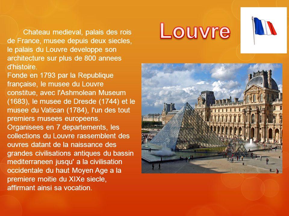 Chateau medieval, palais des rois de France, musee depuis deux siecles, le palais du Louvre developpe son architecture sur plus de 800 annees d'histoi