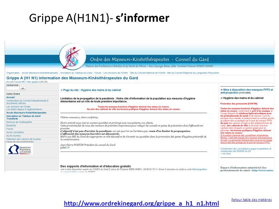 http://www.ordrekinegard.org/grippe_a_h1_n1.html Grippe A(H1N1)- sinformer Retour table des matières