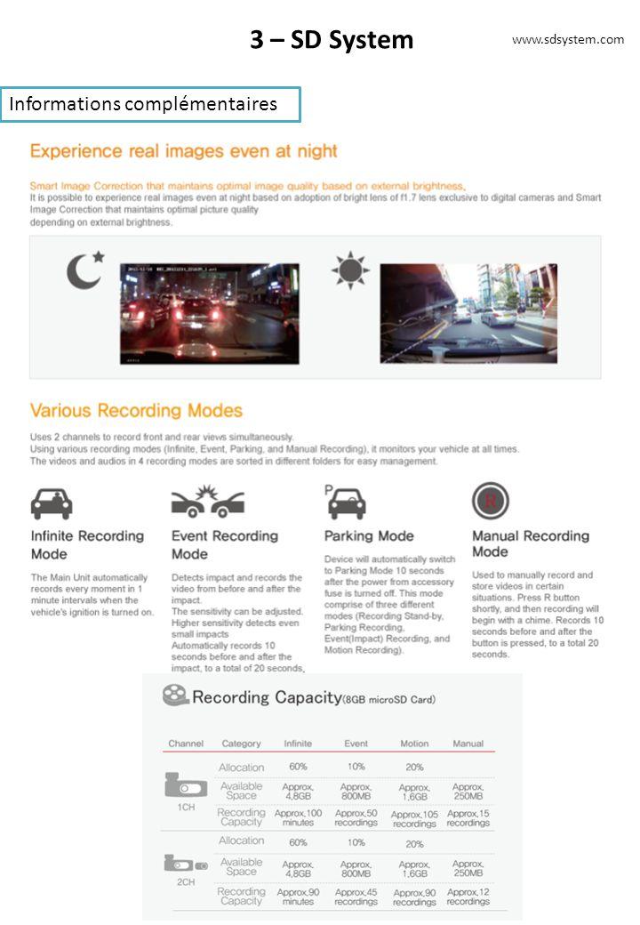 3 – SD System Informations complémentaires www.sdsystem.com
