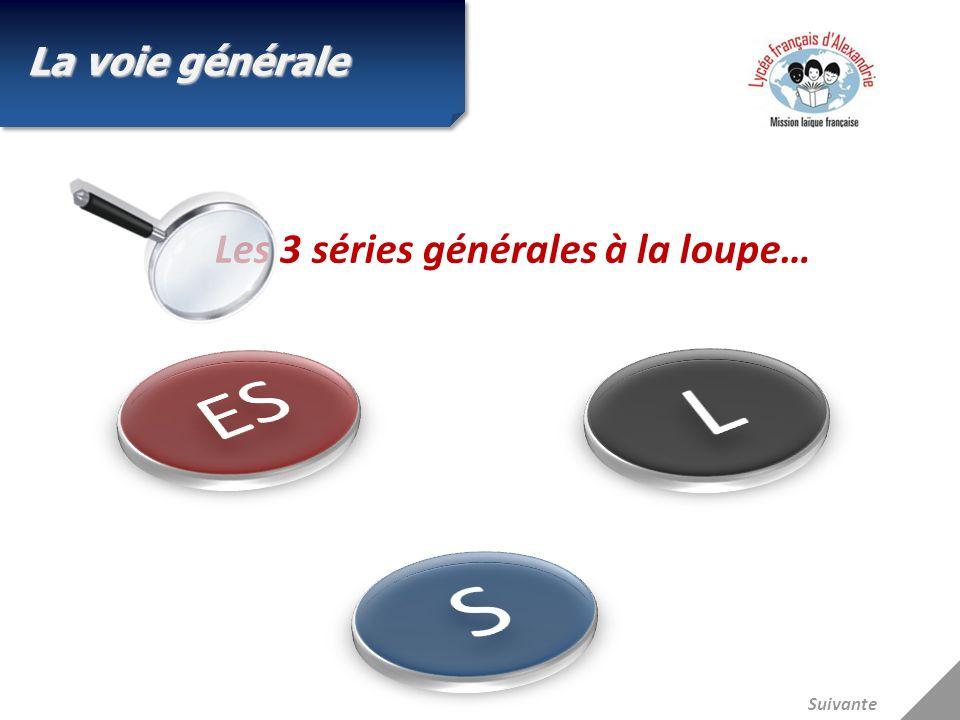 Les 3 séries générales à la loupe… La voie générale Suivante