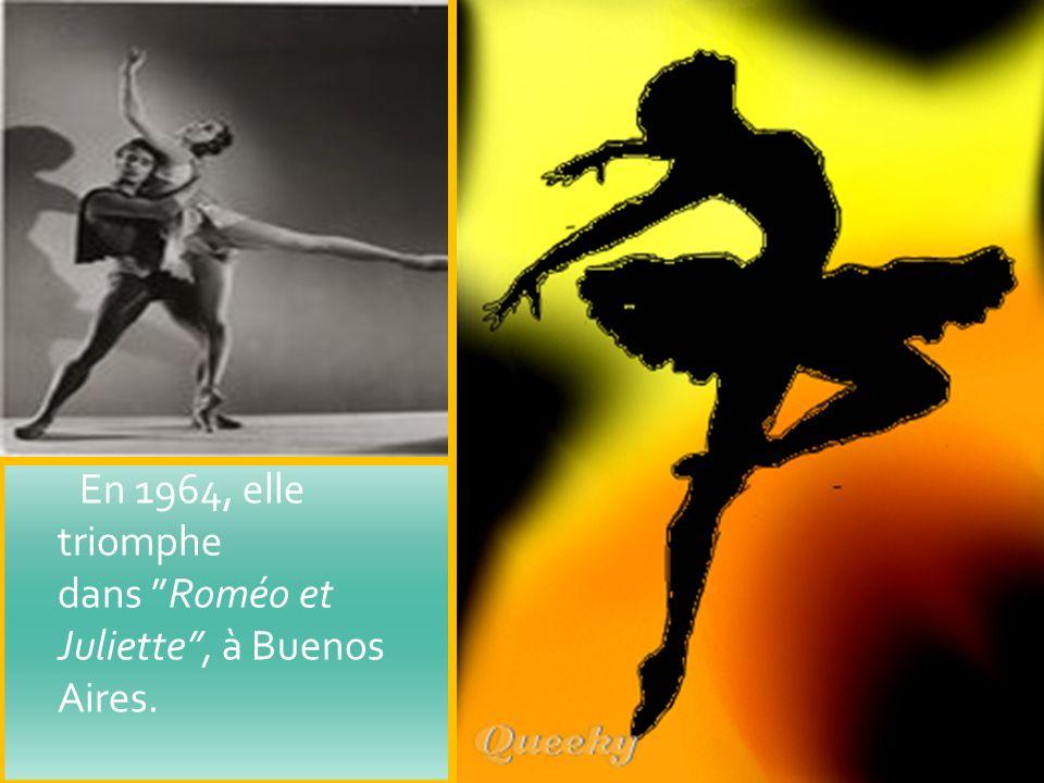En 1964, elle triomphe dans Roméo et Juliette, à Buenos Aires.