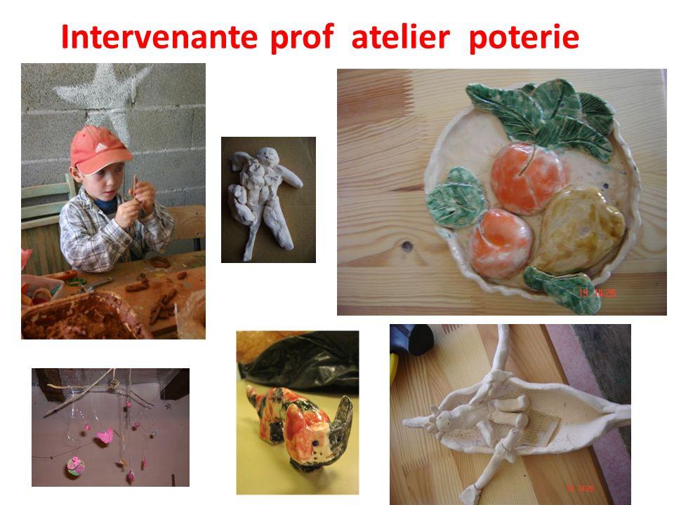 Intervenante prof atelier poterie