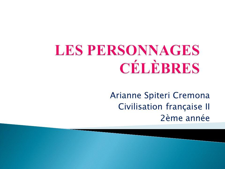 Arianne Spiteri Cremona Civilisation française II 2ème année