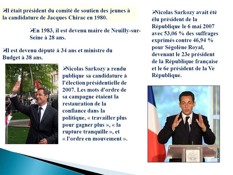 Il était président du comité de soutien des jeunes à la candidature de Jacques Chirac en 1980. En 1983, il est devenu maire de Neuilly-sur- Seine à 28