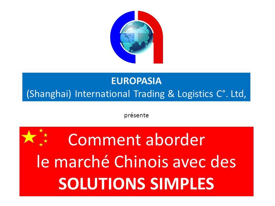 EUROPASIA (Shanghai) International Trading & Logistics C°. Ltd, présente Comment aborder le marché Chinois avec des SOLUTIONS SIMPLES