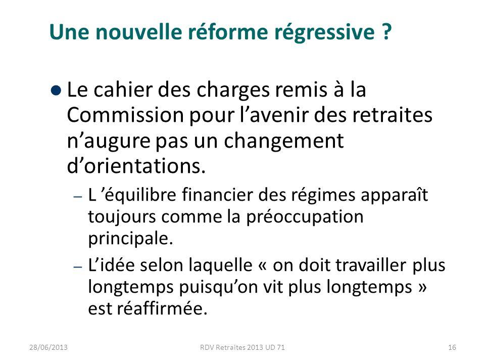 Une nouvelle réforme régressive .