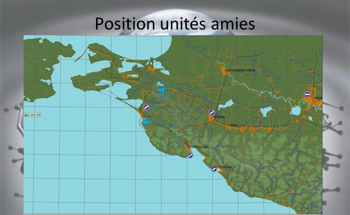 Position unités amies