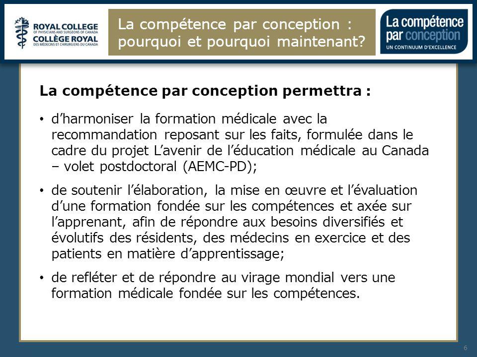 Les changements apportés au cadre CanMEDS auront une incidence sur tous les niveaux de la formation médicale.