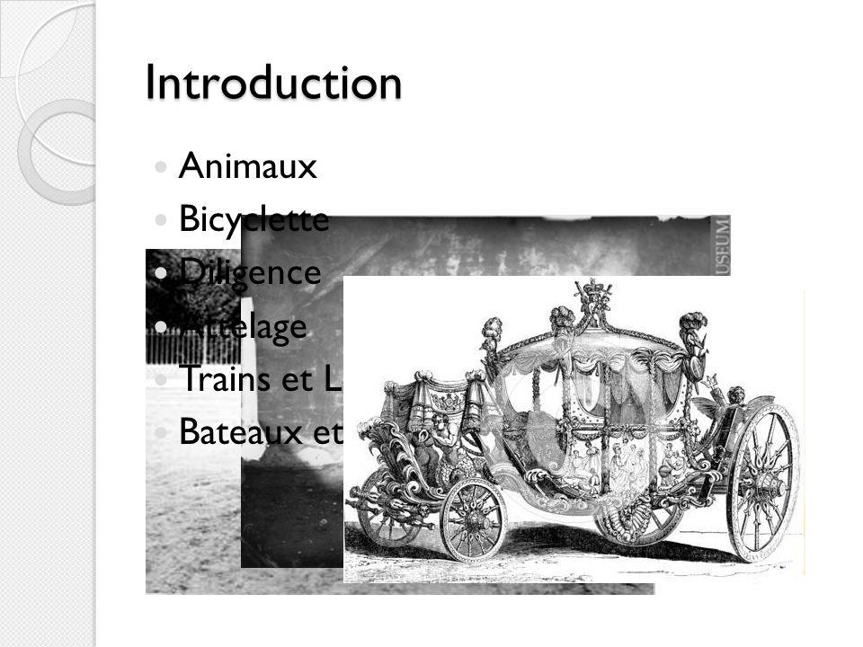 Modes Simple À pied Animaux sont utilisé part tout monde Animaux: les chevaux, les chameaux, les chiens, les buffles deau, les bœufs Employer pour pousser et tirer les biens