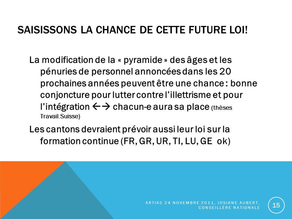 SAISISSONS LA CHANCE DE CETTE FUTURE LOI.