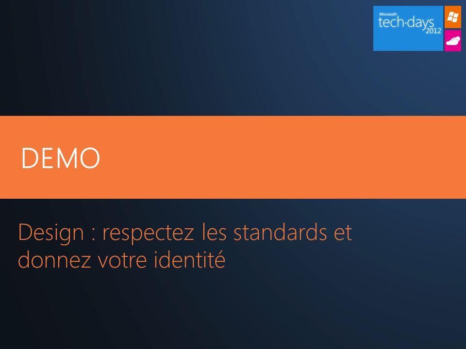 DEMO Design : respectez les standards et donnez votre identité