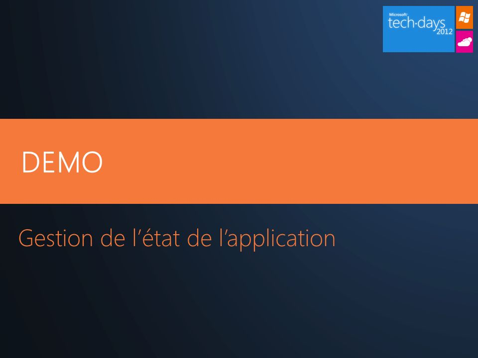 DEMO Gestion de létat de lapplication