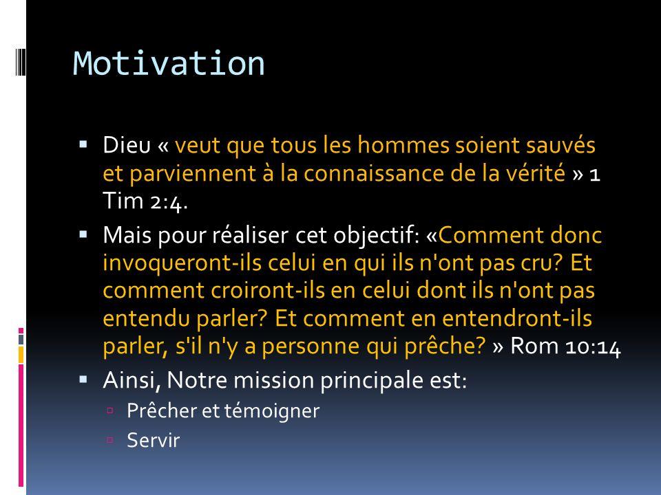 Motivation Deux questions importantes se posent Comment servir.