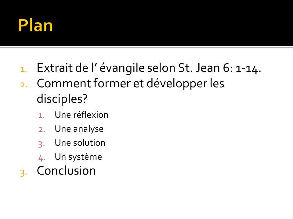 1. Extrait de l évangile selon St. Jean 6: 1-14.