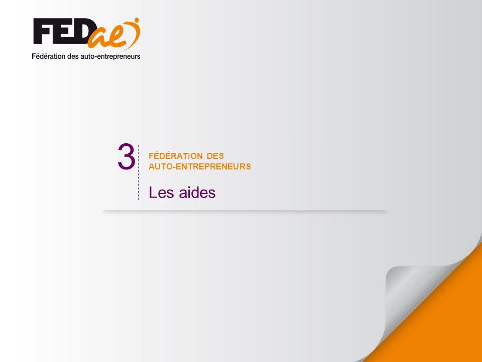 FÉDÉRATION DES AUTO-ENTREPRENEURS Les aides 3