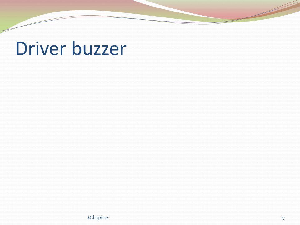 Driver buzzer $Chapitre17