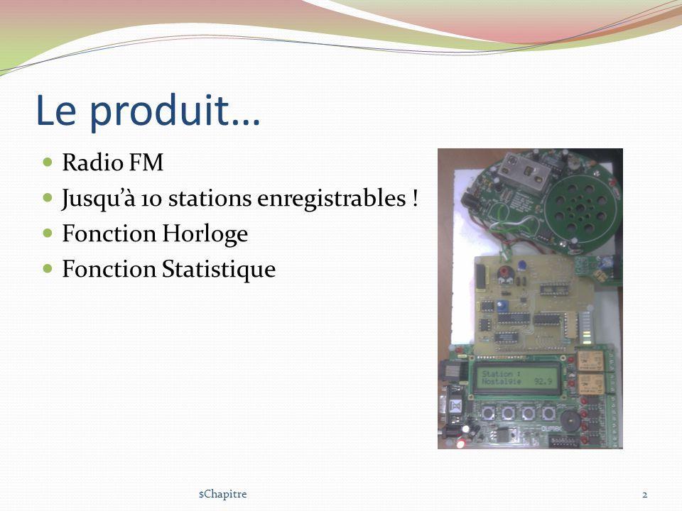 Communication IR Radio UART IR UART Télécommande 3 couches : Liaison : E/R doctets dans deux FIFO Transport : E/R de trames, vérification de lintégrité des données, taille variables.